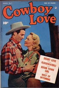 Cover Thumbnail for Cowboy Love (Fawcett, 1949 series) #7