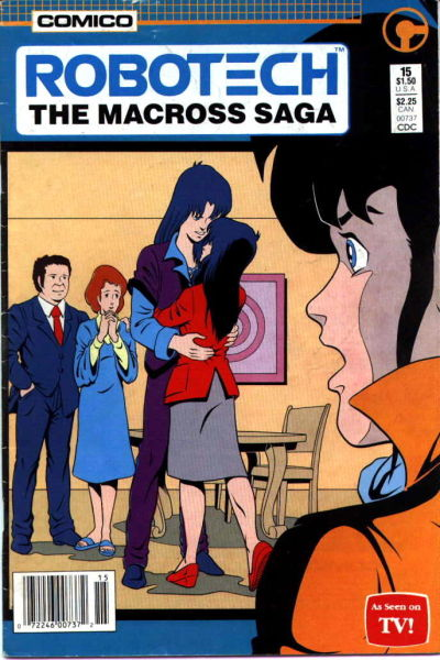Cover for Robotech: The Macross Saga (Comico, 1985 series) #15 [newsstand]