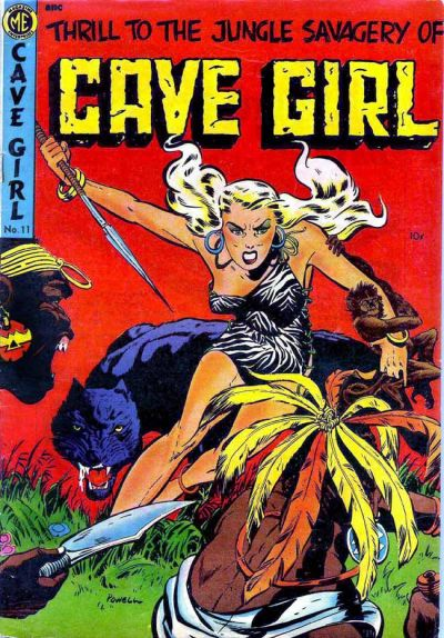 Cover for Cave Girl (Magazine Enterprises, 1953 series) #11 (A-1 #82)