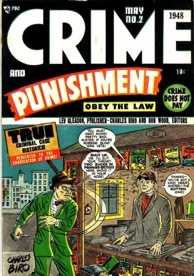 Cover for Crime and Punishment (Lev Gleason, 1948 series) #2