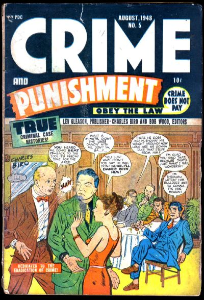 Cover for Crime and Punishment (Lev Gleason, 1948 series) #5