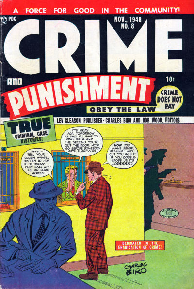 Cover for Crime and Punishment (Lev Gleason, 1948 series) #8