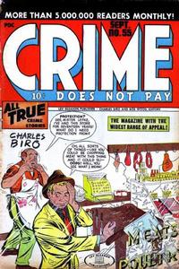 Cover for Crime Does Not Pay (Lev Gleason, 1942 series) #55