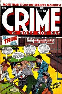Cover Thumbnail for Crime Does Not Pay (Lev Gleason, 1942 series) #56
