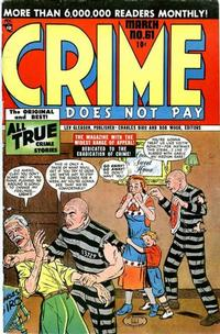 Cover for Crime Does Not Pay (Lev Gleason, 1942 series) #61