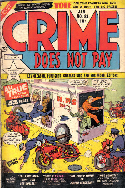 Cover for Crime Does Not Pay (Lev Gleason, 1942 series) #83