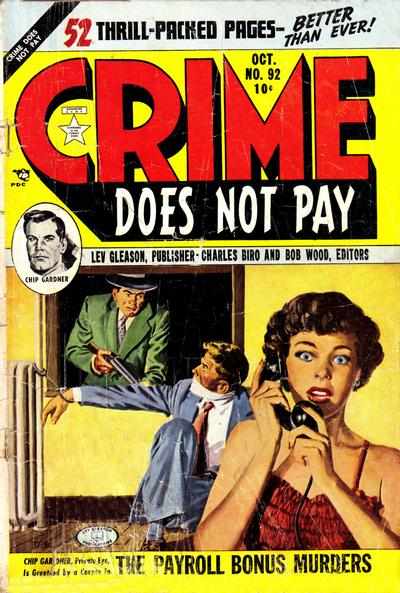 Cover for Crime Does Not Pay (Lev Gleason, 1942 series) #92