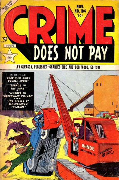 Cover for Crime Does Not Pay (Lev Gleason, 1942 series) #104