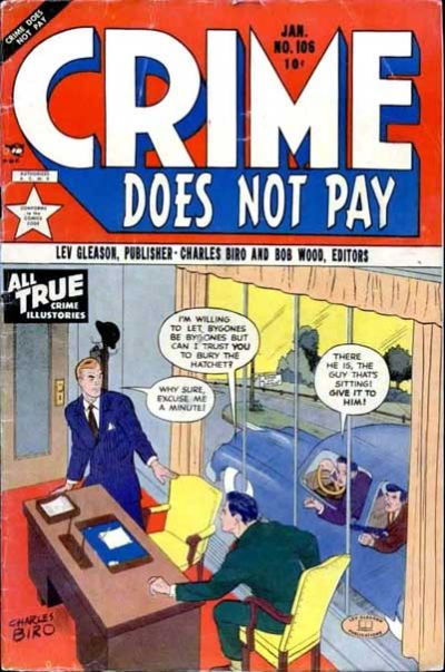Cover for Crime Does Not Pay (Lev Gleason, 1942 series) #106
