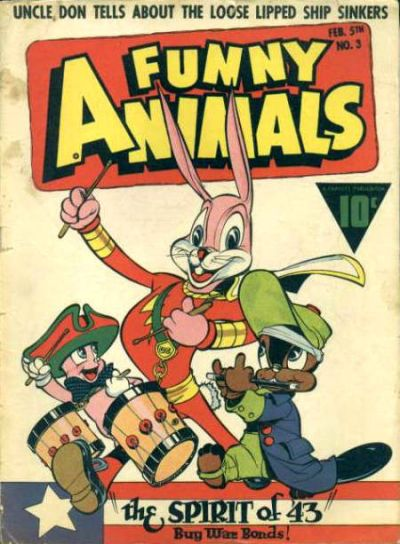 Cover for Fawcett's Funny Animals (Fawcett, 1942 series) #3