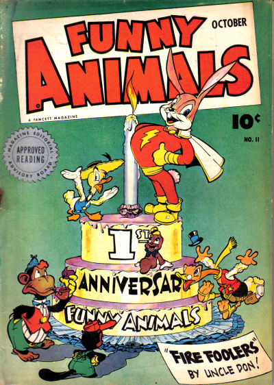 Cover for Fawcett's Funny Animals (Fawcett, 1942 series) #11