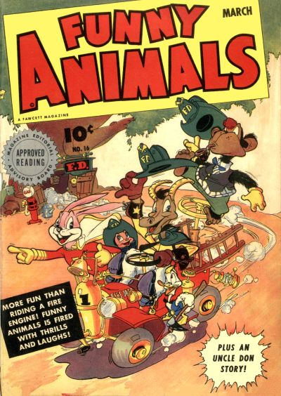 Cover for Fawcett&#39;s Funny Animals (1942 series) #16
