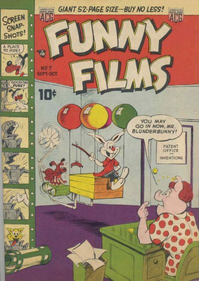 Cover for Funny Films (American Comics Group, 1949 series) #7