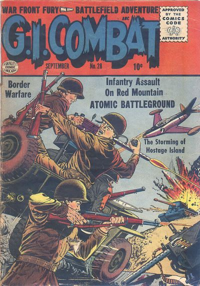 Cover for G.I. Combat (Quality Comics, 1952 series) #28