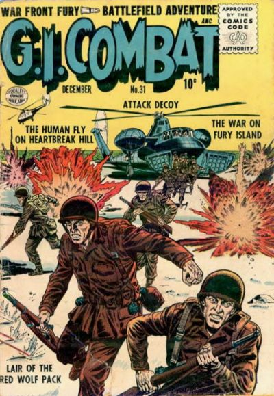 Cover for G.I. Combat (Quality Comics, 1952 series) #31