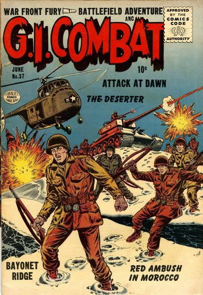 Cover for G.I. Combat (Quality Comics, 1952 series) #37