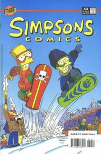 Cover for Simpsons Comics (Bongo, 1993 series) #34