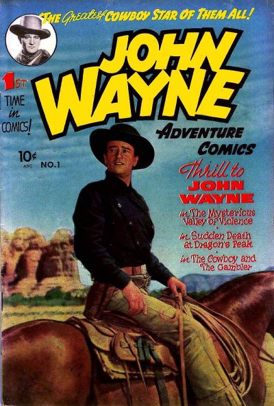 Cover for John Wayne Adventure Comics (Toby, 1949 series) #1
