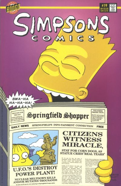 Cover for Simpsons Comics (Bongo, 1993 series) #19