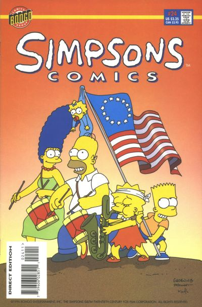 Cover for Simpsons Comics (Bongo, 1993 series) #24