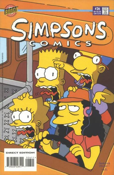 Cover for Simpsons Comics (Bongo, 1993 series) #26