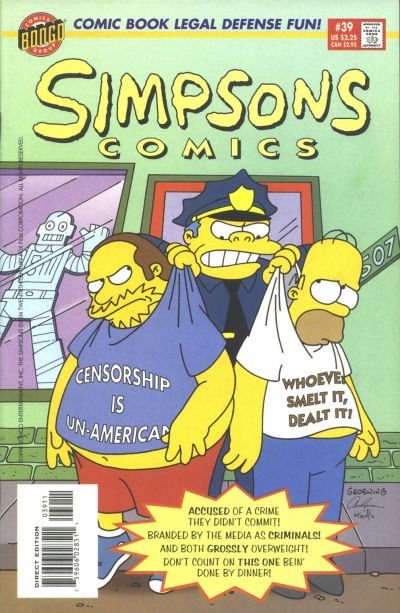 Cover for Simpsons Comics (Bongo, 1993 series) #39