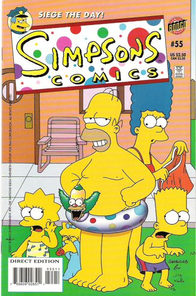 Cover for Simpsons Comics (Bongo, 1993 series) #55
