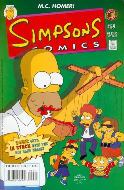 Cover for Simpsons Comics (Bongo, 1993 series) #59
