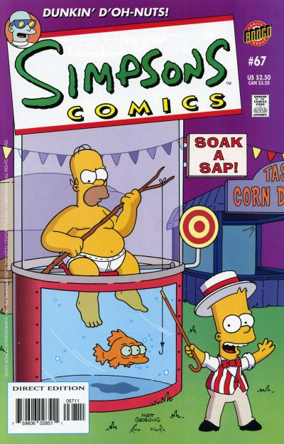 Cover for Simpsons Comics (Bongo, 1993 series) #67