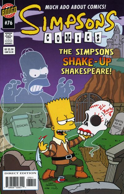 Cover for Simpsons Comics (Bongo, 1993 series) #76