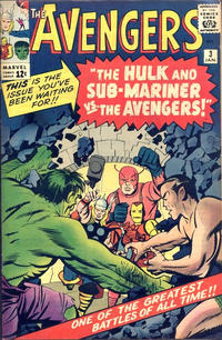 Cover Thumbnail for The Avengers (Marvel, 1963 series) #3