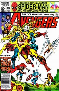 Cover Thumbnail for The Avengers (Marvel, 1963 series) #214 [Newsstand Edition]