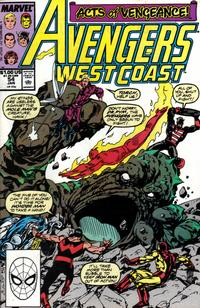 Cover Thumbnail for Avengers West Coast (Marvel, 1989 series) #54 [Direct Edition]