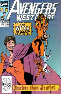 Cover Thumbnail for Avengers West Coast (Marvel, 1989 series) #56 [Direct Edition]