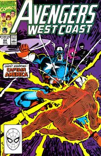 Cover Thumbnail for Avengers West Coast (Marvel, 1989 series) #64 [Direct Edition]
