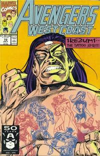 Cover Thumbnail for Avengers West Coast (Marvel, 1989 series) #72 [Direct Edition]