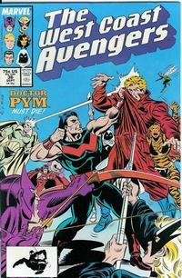 Cover Thumbnail for West Coast Avengers (Marvel, 1985 series) #36 [Direct Edition]