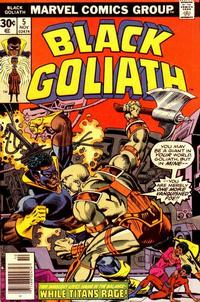 Cover for Black Goliath (1976 series) #5