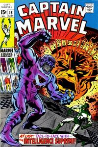 Cover Thumbnail for Captain Marvel (Marvel, 1968 series) #16
