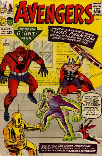 Cover for The Avengers (1963 series) #2