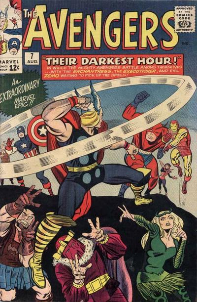 Cover for The Avengers (1963 series) #7