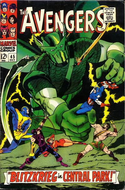 Cover for The Avengers (Marvel, 1963 series) #45