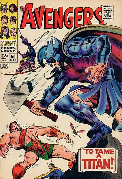 Cover for The Avengers (1963 series) #50