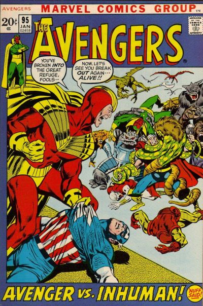 Cover for The Avengers (1963 series) #95