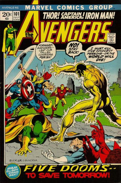 Cover for The Avengers (1963 series) #101