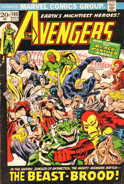 Cover for The Avengers (1963 series) #105