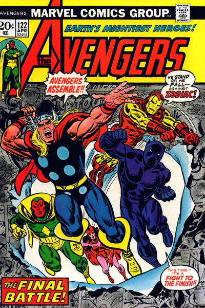 Cover for The Avengers (Marvel, 1963 series) #122