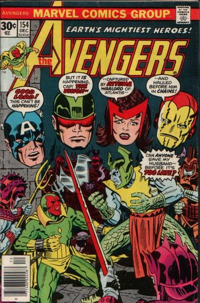Cover for The Avengers (Marvel, 1963 series) #154