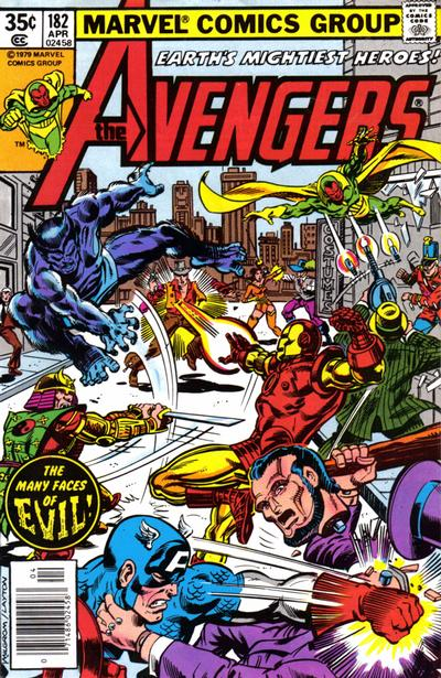 Cover for The Avengers (1963 series) #182