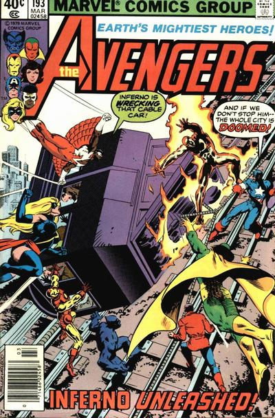 Cover for The Avengers (1963 series) #193 [Newsstand Edition]